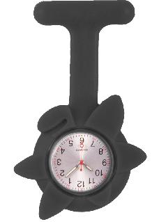 Silicone Spring Flower Fob Watch Black