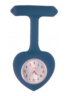 Silicone Heart Nurse Fob Watch Navy Blue