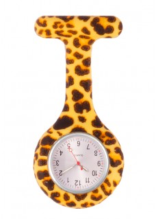 Nurses Fob Watch Leopard