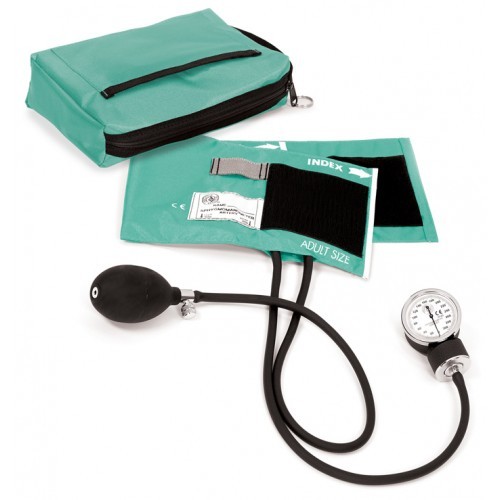 Premium Aneroid Sphygmomanometer with Carry Case Aqua Sea
