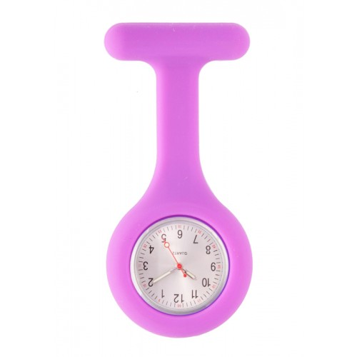 Silicone Nurses Fob Watch Standard Purple