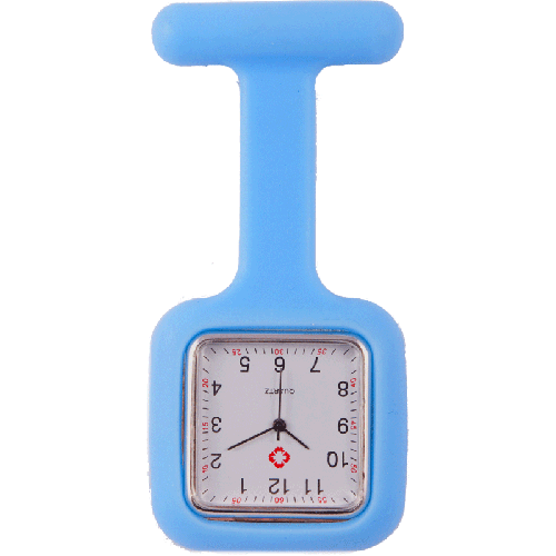 Silicone Square Fob Watch Blue