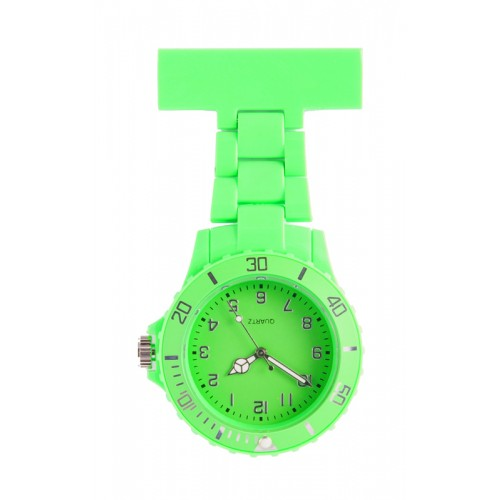 Neon Nurses Fob Watch Lime Green