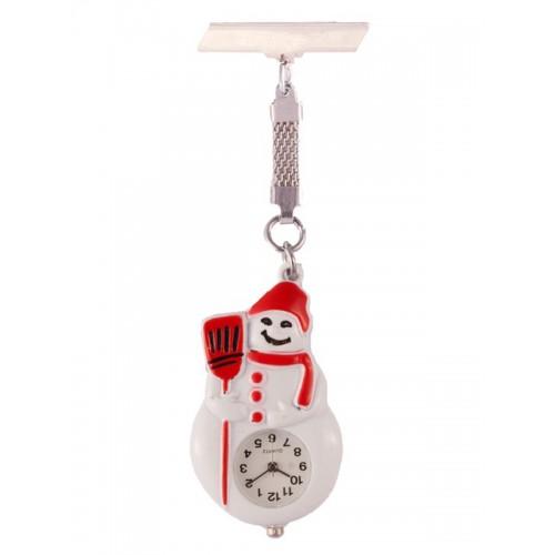 Nurses Fob Watch Snowman