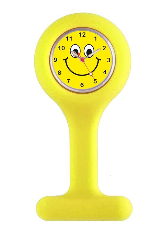 Silicone Nurse Fob Watch Yellow Happy Face By Nurseoclock