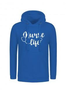 Hoodie Nurse Life Blue