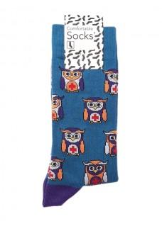 Happy Womens Socks Owls