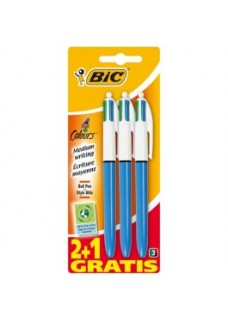 BIC 4 Colours Pens 3-Pack
