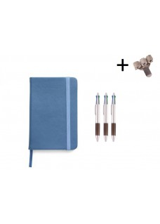 Set Notebook A5 + Pens  Blue