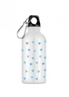 Drink Bottle Blue Hearts