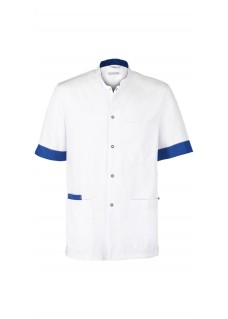 Haen Nurse Uniform Floris White/Royal Bleu