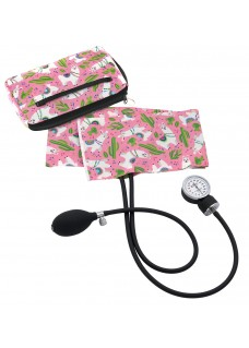 Premium Aneroid Sphygmomanometer with Carry Case Llamas Pink