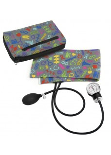 Premium Aneroid Sphygmomanometer with Carry Case Symbols Grey
