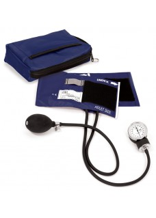 Premium Aneroid Sphygmomanometer with Carry Case Navy