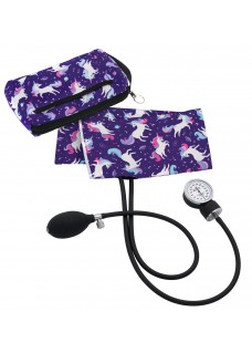 Premium Aneroid Sphygmomanometer with Carry Case Unicorn Purple