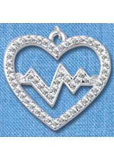 Pendant Heartbeat Silver (Large)