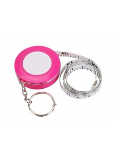 Measurement Tape Key Ring Pink