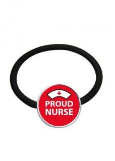 Elastic Hair Band Proud Nurse