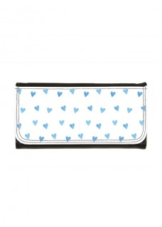 Ladies Luxe Wallet Blue Hearts