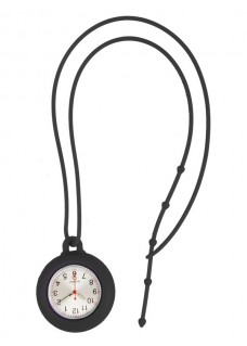 Silicone Lanyard Watch Black