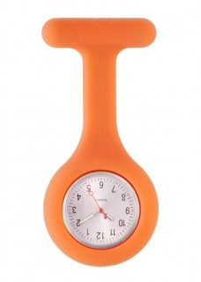 Silicone Nurses Fob Watch Standard Orange
