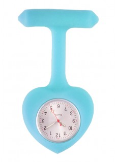 Silicone Heart Nurse Fob Watch Blue