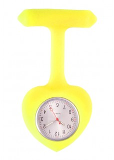 Silicone Heart Nurse Fob Watch Yellow