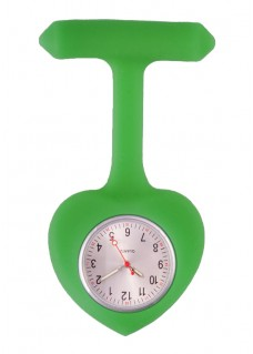 Silicone Heart Nurse Fob Watch Green