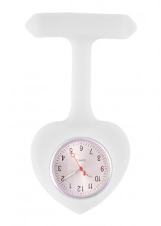 Silicone Heart Nurse Fob Watch White