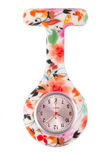 Nurses Fob Watch Asian Flowers
