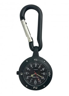 Nurses Carabiner Belt Watch NOC451 Stealth Black