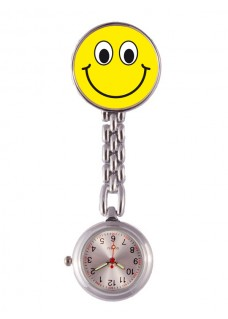 Fob Watch Smiley Yellow DISABLED