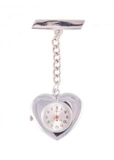 Silver Heart Fob Watch
