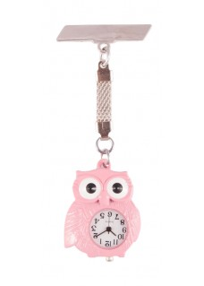 Owl Pink Fob Watch