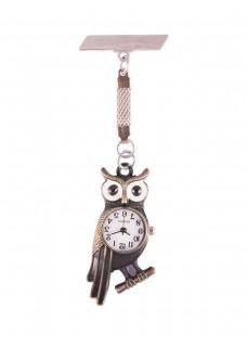 Owl Bronze Fob Watch