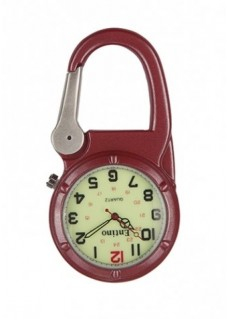 Nurse Clip Watch NOC472 Luminous Red