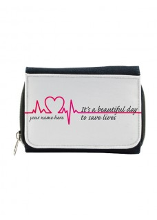 Ladies Denim Purse Beautiful Day with Name Print