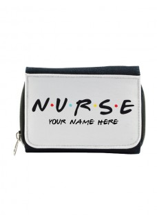 Ladies Denim Purse Nurse with Name Print