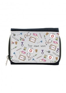 Ladies Denim Purse Medical Symbols with Name Print