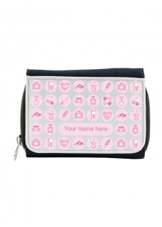 Ladies Denim Purse Pink with Name Print
