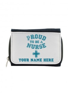Ladies Denim Purse Proud Nurse with Name Print