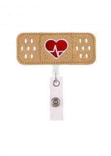 Retracteze ID Holder Band AID Heart