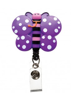 Deluxe Retracteze ID Holder Butterfly