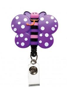 Deluxe Retracteze ID Holder Butterfly