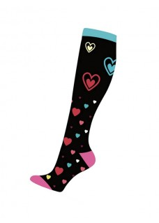 Nurse Compression Socks Hearts Black