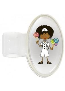 Stethoscope ID Tag Candy Nurse
