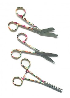 Scissors Set Asian Flower