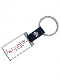 Luxe Key Chain Beautiful Day with Name Print