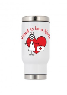 Thermo Travel Mug Proud to be a Nurse
