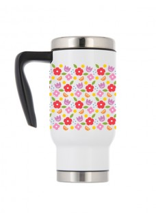 Thermo Travel Mug Vintage Flowers